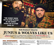 TERRORIZER MAGAZINE #247. Junius and Wolves Like Us Bar Rant feature.