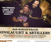 TERRORIZER MAGAZINE #253 Bar Rant photo with Onslaught and Artillery.