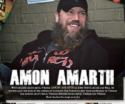 TERRORIZER MAGAZINE #245. Photos of Amon Amarth for Hard of Hearing article.