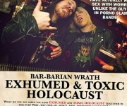 TERRORIZER MAGAZINE #251. Exhumed/Toxic Holocaust Bar Rant photo.