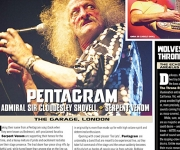TERRORIZER MAGAZINE #254 Pentagram, The Admiral Sir Cloudesley Shovell, and Edguy Live Photos